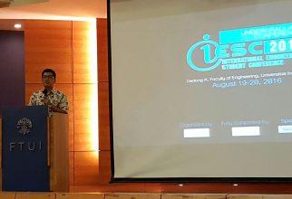 Pembukaan International Engineering Student Conference 2016 (IESC) Oleh Direktur DRPM UI