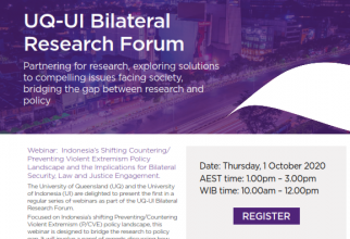 UQ-UI Bilateral Research Forum