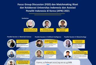 Matchmaking Riset dan Kolaborasi Universitas Indonesia dan Asosiasi Peneliti Indonesia di Korea (APIK) 2021