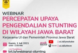 "Webinar ""Percepatan Upaya Pengendalian Stunting Di Wilayah Jawa Barat"""