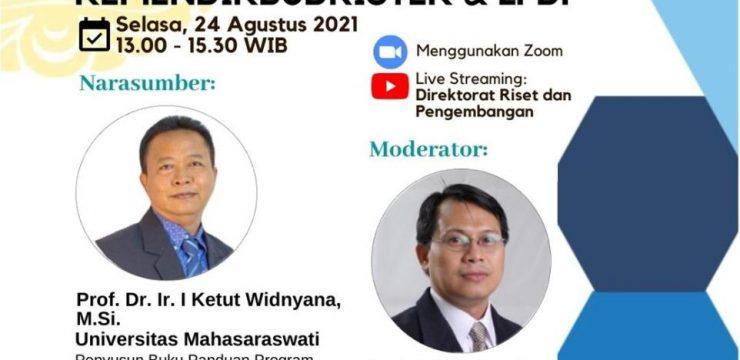 Sosialisasi Program Riset Keilmuan Tahun 2021 Kemendikbudristek & LPDP