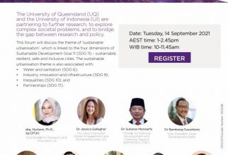 3rd UQ-UI Bilateral Research Forum: Sustainable Urbanisation and Sustainable Development Goals in Indonesian Cities